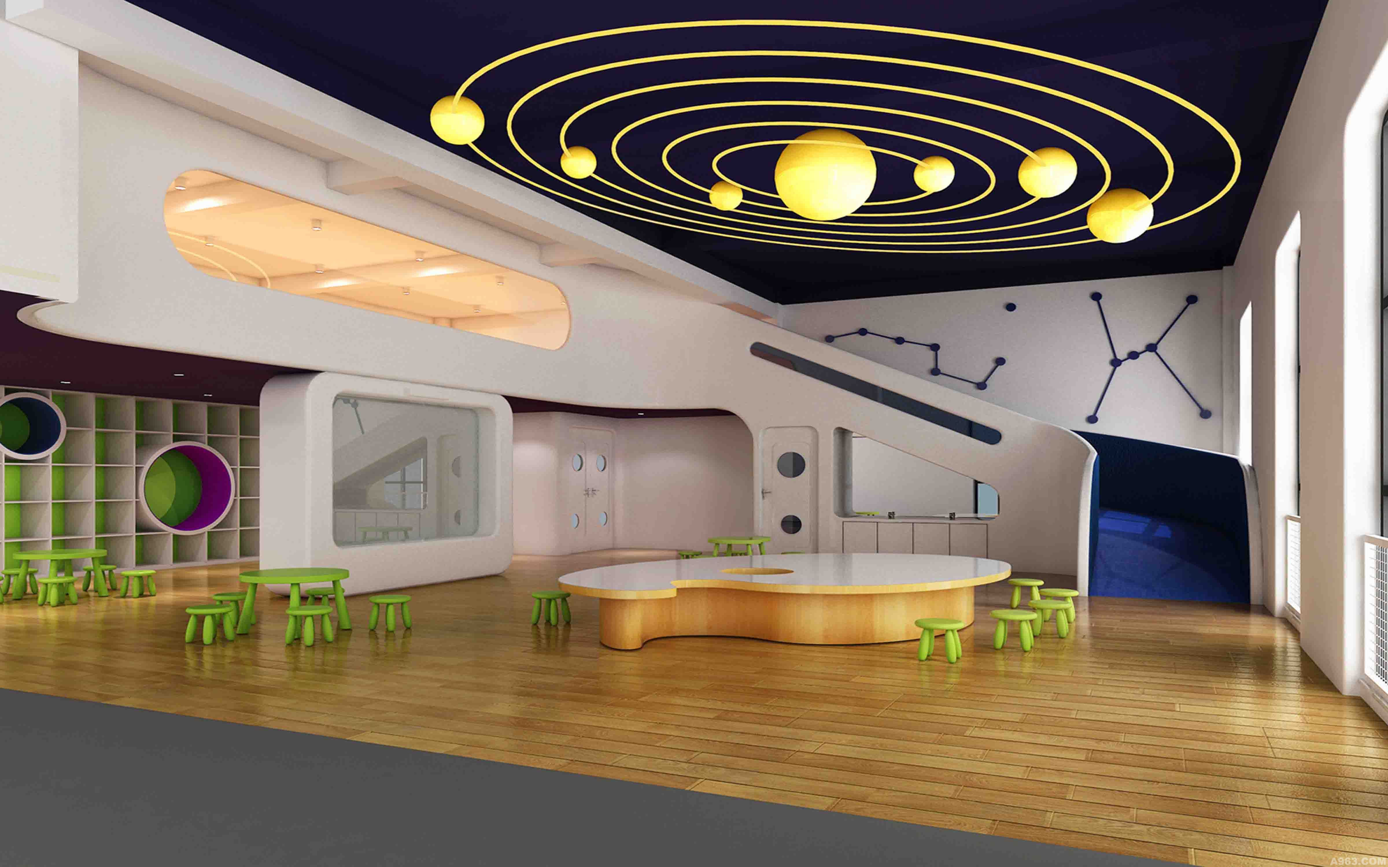 爱尚亚太国际幼儿园 - 文化空间 - 北京室内设计网__.