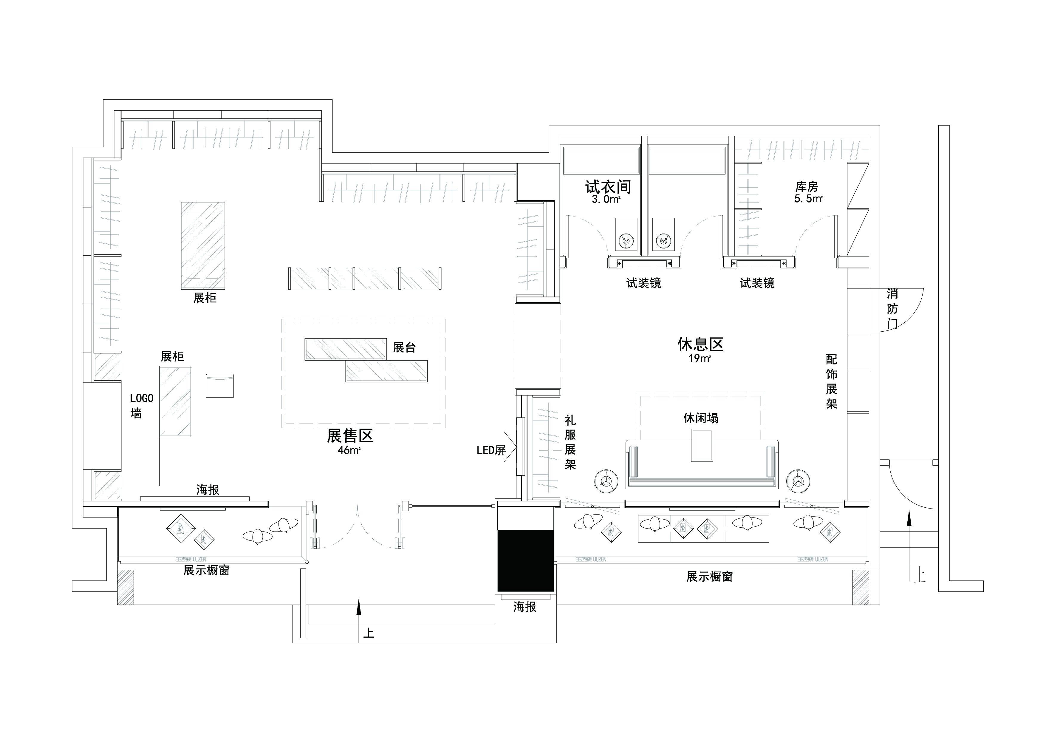 玉臻国际精品服装店 - 展示空间 - 第4页 - 郭明设计