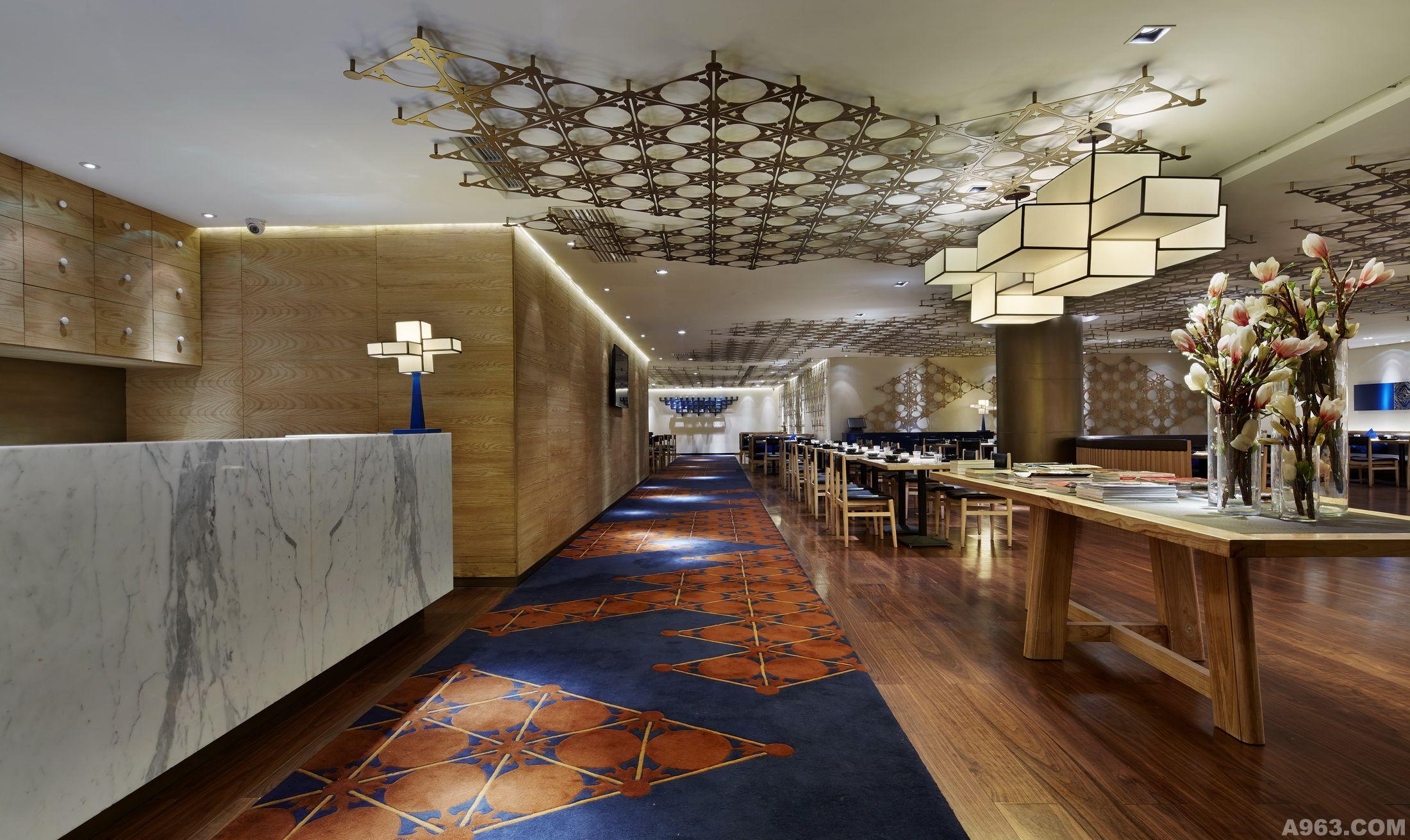 中餐厅楼道手绘效果图