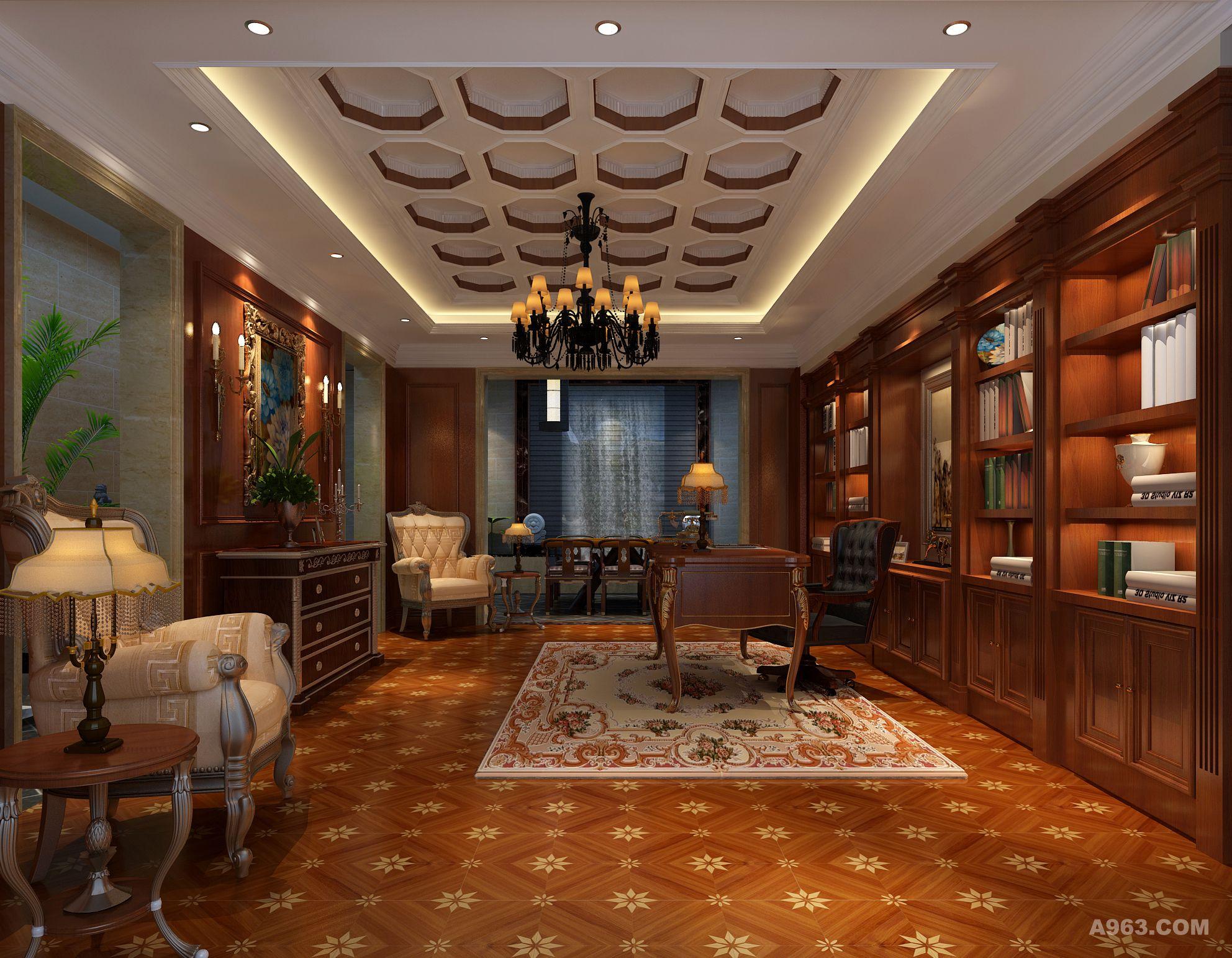 打造出浓厚经典的法式奢华的传承气息的会客空间图片