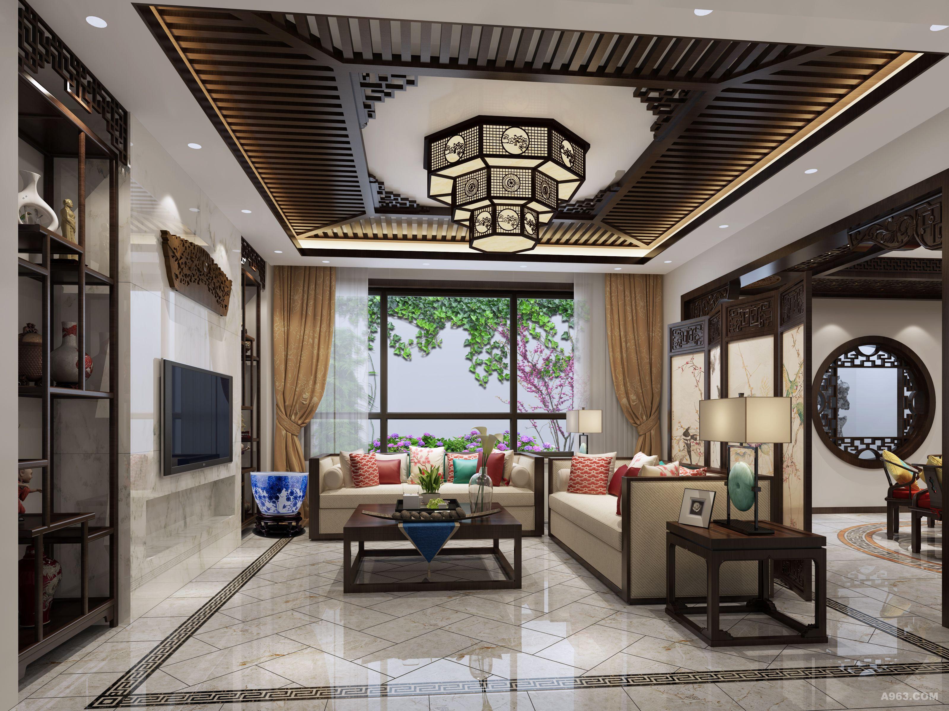 北京院子别墅装修新中式案例