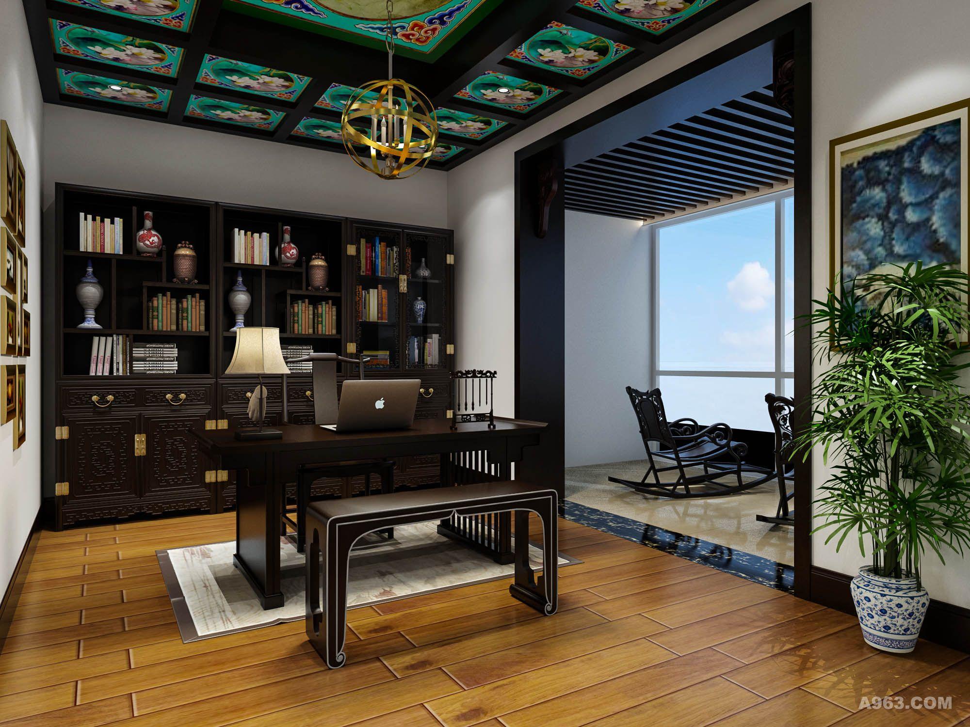 新中式风格 紫竹园别墅装修设计