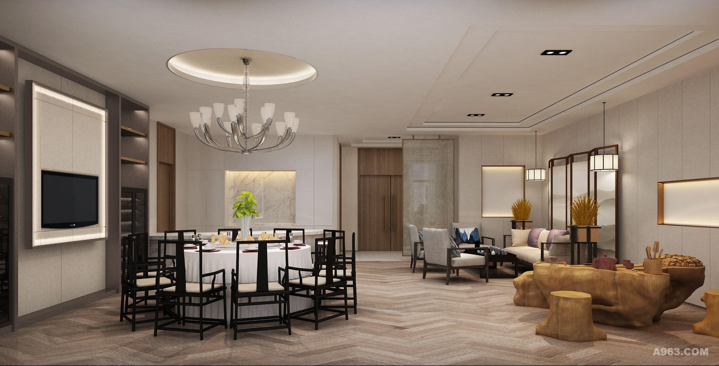 设计师借用部分室外闲置空间,设置圆形核心筒,联通两条主干道,形成