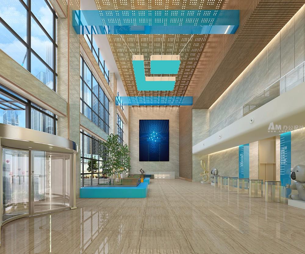 am金融公司办公空间设计-办公室设计-拉卡拉控股办公楼设计说明
