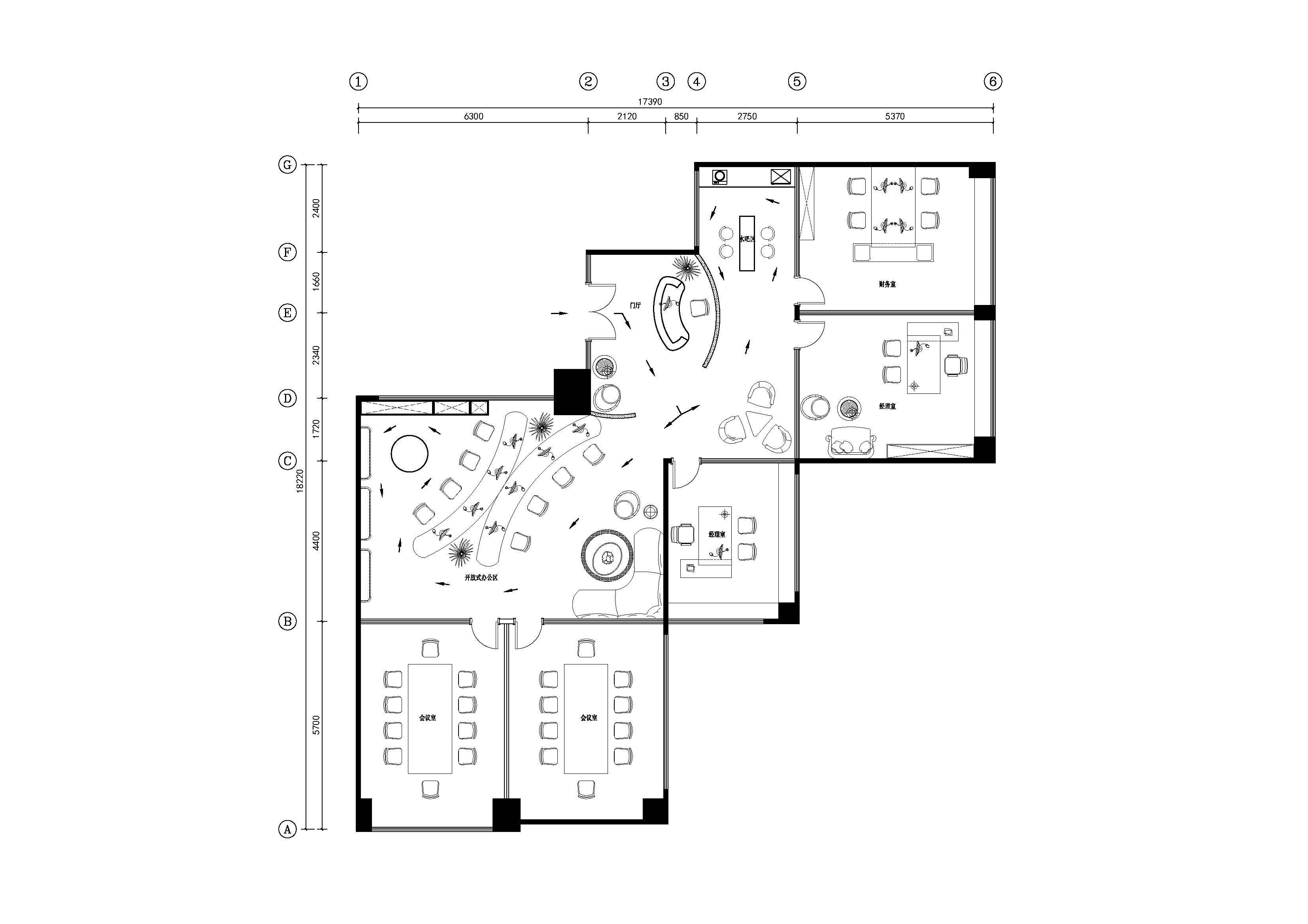 """设计主题:""""邂逅包豪斯的柔情""""----呼和浩特海亮广场某高端服装公司办公室室内概念设计案例 设计单位:北京乾城空间设计机构 设计师:郭恒、成军 设计费:20000元(人民币) 项目地点:内蒙古呼和浩特海亮广场 项目面积:180 包豪斯风格:实际上是人们对""""现代主义风格""""的另一种称呼。称为""""包豪斯风格""""是对包豪斯的一种曲解,包豪斯是一种思潮,而并非完整意义上的风格。 包豪斯提出了三个基本观点:艺术与技术的新统一:设计的目的是人而不是"""