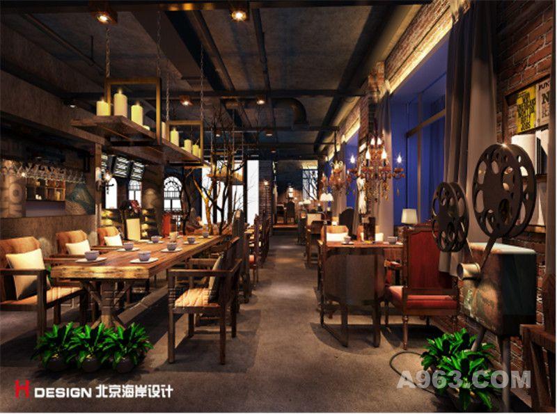 溪树河谷咖啡厅室内设计案例