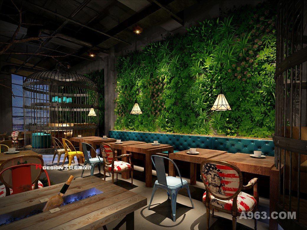 春天里音乐餐厅是一家集咖啡简餐、轻酒吧于一体的餐饮店,由郭准先生倾力打造。在空间的处理上,郭准先生不断探索新的表达方式,在保持一贯高审美的同时探索出利用鸟笼进行创新装饰,并将绿植和空间的组合运用到极致,使得大自然的绿色油然而生,一眼望去尽是满园春色。